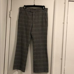 Zara Plaid Crop Flare Trousers, Grey, Sz 4